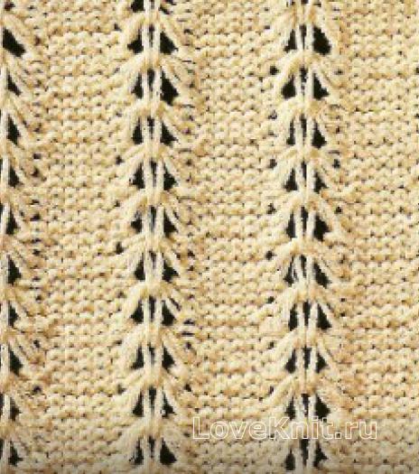 Фото узор ажурный №1634 спицами