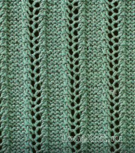 Фото узор ажурный №1648 спицами
