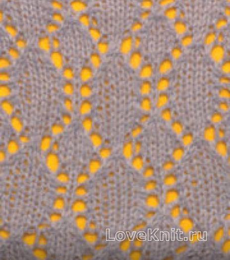 Фото узор ажурный №2650 спицами