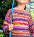 цветной джемпер для девочки фото к описанию
