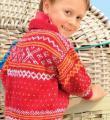 детский джемпер с норвежским узором фото к описанию