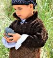 двухцветный детский пуловер фото к описанию