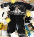 костюм из свитера со снеговиком и штанишек с пинетками фото к описанию