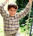 пуловер для мальчика в клеточку фото к описанию