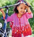 свободный детский кардиган с цветами фото к описанию