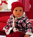 теплый жакет в клеточку для ребенка фото к описанию