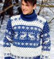 Для мужчин мужской свитер с оленями фото к описанию