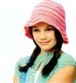 полосатая шляпка для девочки фото к описанию