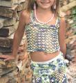 Крючком детский комплект из юбка и топа фото к описанию