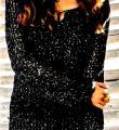 Спицами ажурное платье с сетчатым узором фото к описанию