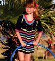 Спицами детское платье в полосочку фото к описанию