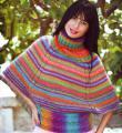 Спицами цветной пуловер свободного покроя фото к описанию