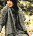 Спицами длинный свитер с асимметричным жилетом фото к описанию