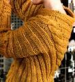 Спицами объемный пуловер с косами фото к описанию