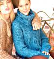 Спицами объемный свитер с крупными косами жемчужным узором фото к описанию