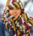 Спицами полосатые шапка и шарф фото к описанию