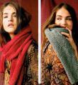 Как связать спицами шарф лицевой гладью