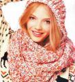 Спицами вязаный меланжевый шарф капор фото к описанию