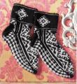 Спицами носки для мужчины с графическим рисунком фото к описанию