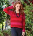 Крючком свободный укороченный пуловер фото к описанию