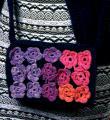 Спицами сумка для девочки с цветами фото к описанию