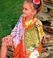 Крючком цветное кружевное пончо для девочки фото к описанию