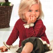 Как связать  детская кофта с рюшами