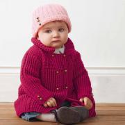 Как связать  детский двубортный жакет на пуговицах