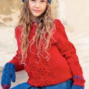 Как связать  детский джемпер с центральной косой