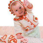 Как связать  детский комплект ягодка