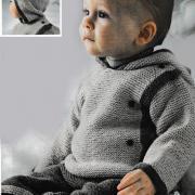 Как связать  детский свитер с капюшоном