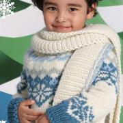 Как связать  детский свитер с норвежским узором и шарф