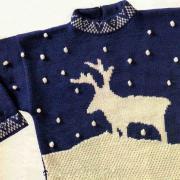 Как связать  детский свитер с оленями