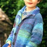 Как связать  детский жакет с карманами и шапка