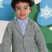 Как связать  детский жакет с карманами и шарф