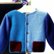 Как связать  детский жакет с накладными карманами, шапочка и шарфик