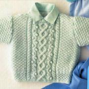 Как связать  кофта для ребенка с узорными полосами