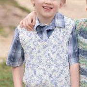 Как связать  меланжевый жилет для ребенка