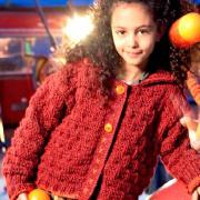 Как связать  объемная кофта для ребенка с отложным воротничком