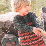 Как связать  полосатый джемпер с ажурным орнаментом