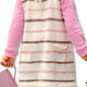 Как связать  полосатый сарафан на завязках и леггинсы для девочки