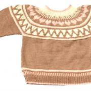 Как связать  пуловер с норвежским узором с сердечками