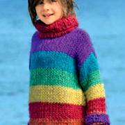 Как связать  разноцветный детский джемпер и гетры