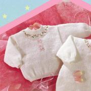 Как связать  свитер для малыша с разделенной спинкой