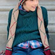 Как связать  свитер для подростка с центральной косой
