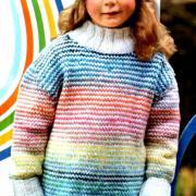 Как связать  удлиненный детский свитер и шапочка