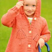 Как связать  удлиненный жакет с вышивкой для девочки