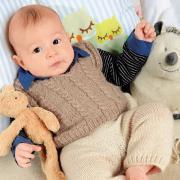 Как связать  жилет, жакет с косами и штанишки для ребенка