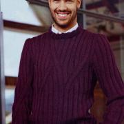 Как связать для мужчин бордовый свитер