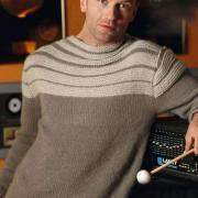 Как связать для мужчин кашемировый пуловер с полосами